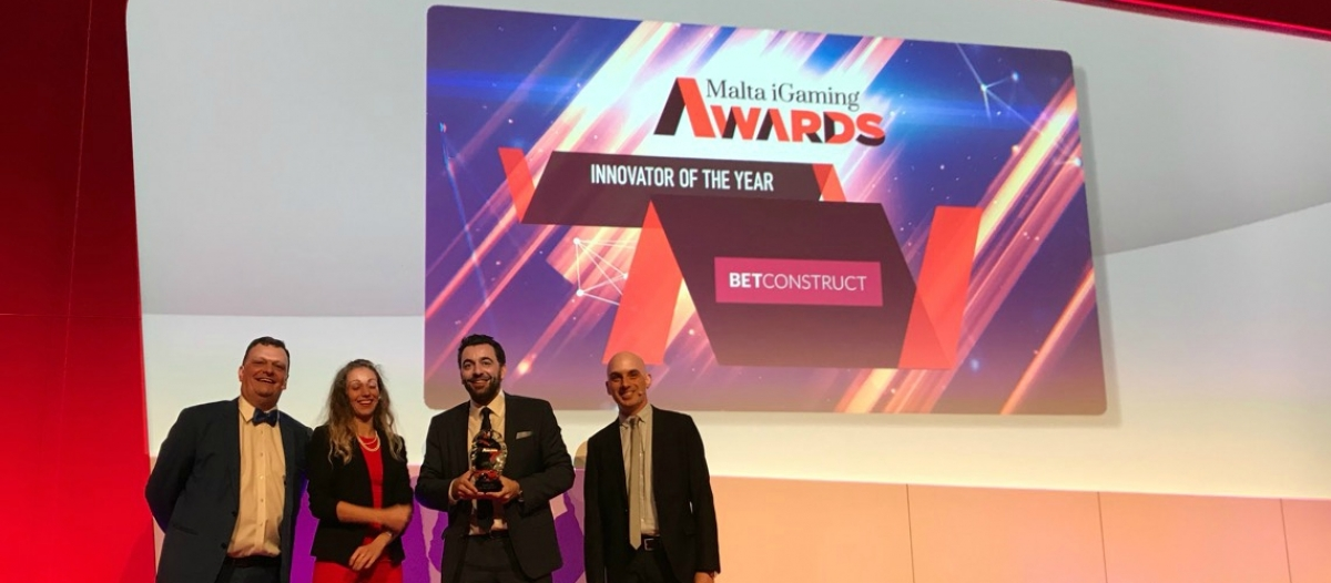 BetConstruct Wins Innovator of the Year at MGA 2017
