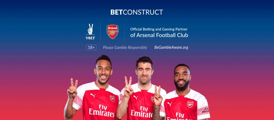 BetConstruct Operator VBET Joins Arsenal as Official Partner