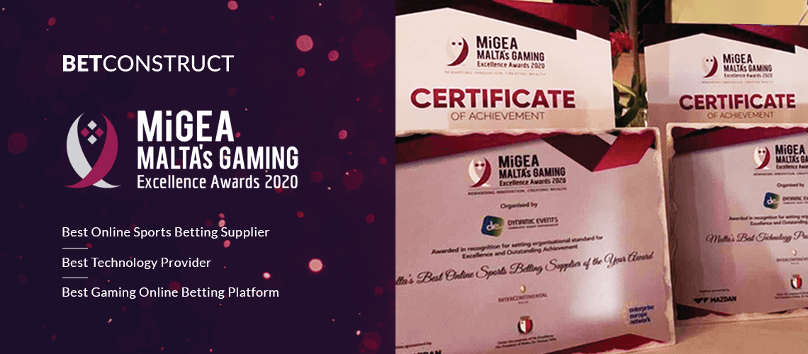 BetConstruct's Core Technology Receives 3 Awards at MiGEA