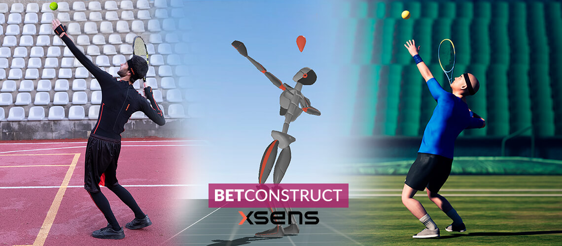 BetConstruct Harnesses Xsens' MoCap Technology for Virtual Sports