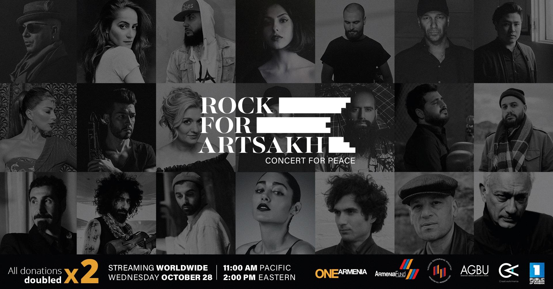 Artists for Artsakh: A Concert for Peace. Համերգ ուղիղ եթերում՝ Սերժ Թանգյանի, Տիգրան Համասյանի և այլոց մասնակցությամբ
