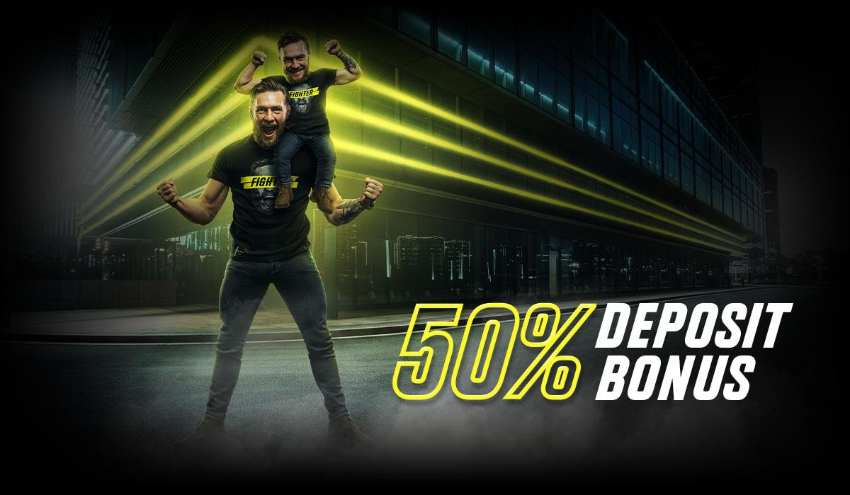 50% Μπόνους Κατάθεσης