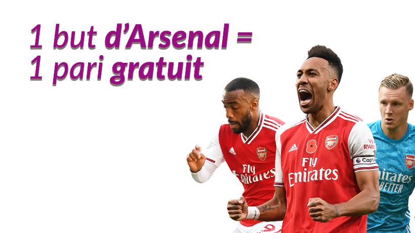 1 but d'Arsenal = 1 pari gratuit