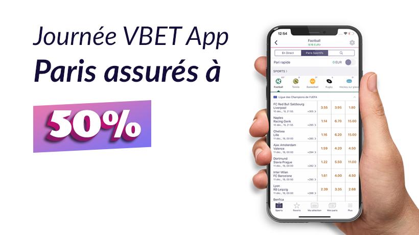 VBET App | Paris assurés à 50%