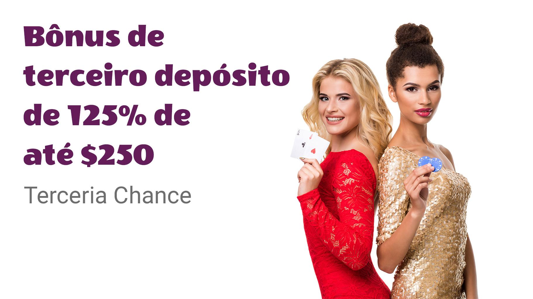 Bônus de Terceiro Depósito de 125% até $ 250