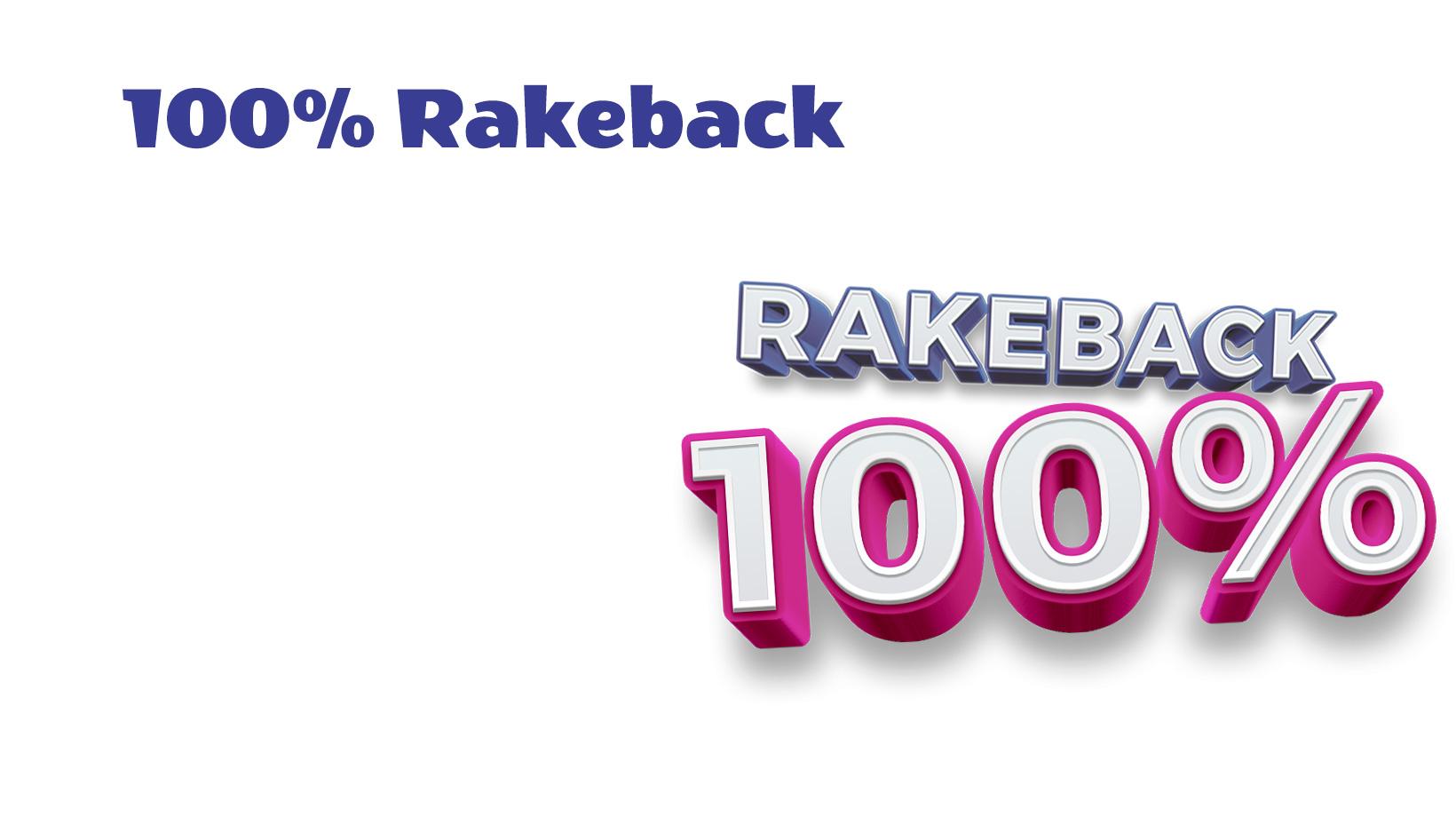 100% Rakeback