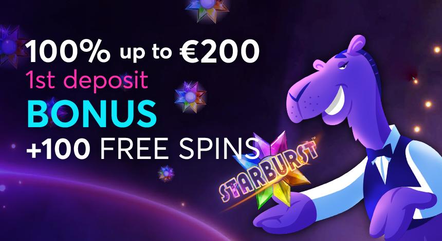 100 free spins starburst